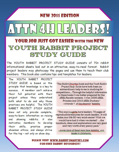 youth rabbit project study guide back cover