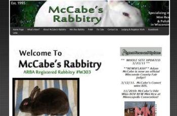 mccabes rabbitry website - mini rex rabbits in wisconsin