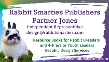 cute purple bunny business card design
