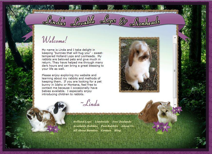 Rabbitry Website design