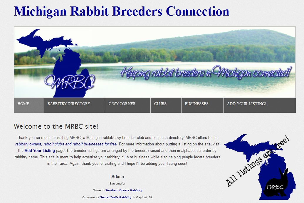 Find a rabbit breeder with bunnies for sale in Michigan