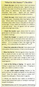 rabbit color genetics checklist