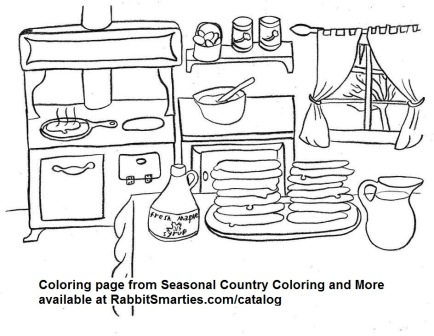 Wintertime Maple Syrup Kitchen Coloring Page From Seasonal Country And More
